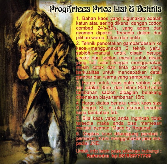 Price List Kaos Progressive Rock