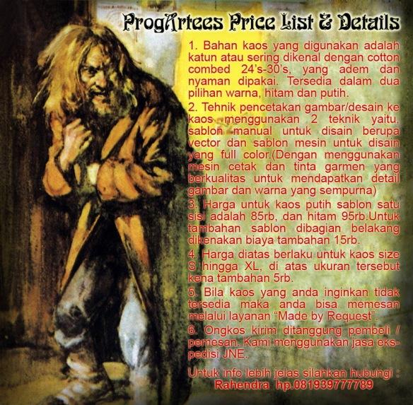 Price List Kaos Progressive Rock